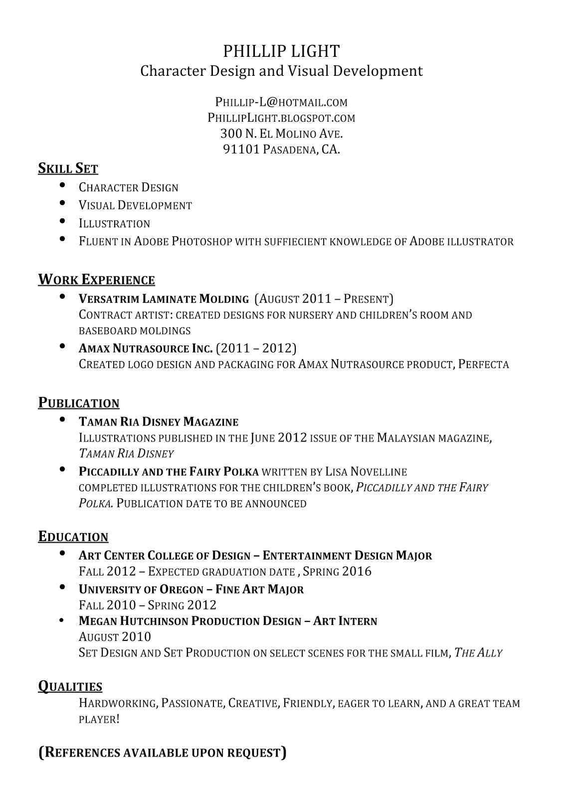 cover letter with bullet point examples