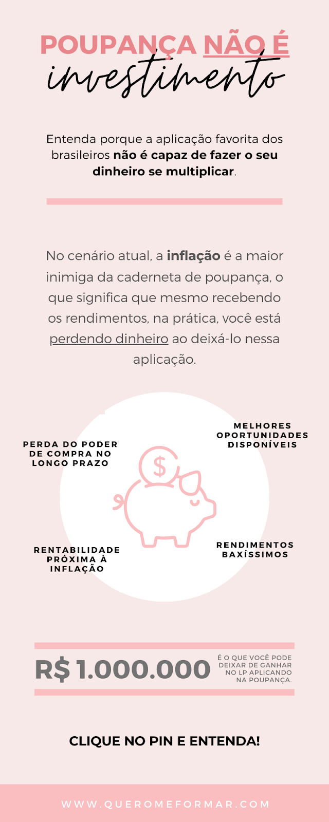 Infográfico Entenda De Vez Por Que Poupança Não é Investimento