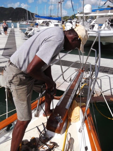 Finishing the Bowsprit