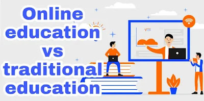 Online education vs traditional education articles