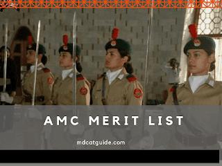 army medical college merit list 2021