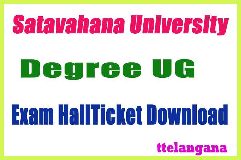 Satavahana University UG  Exam Hall Tickets
