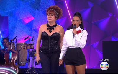 Nany People escolheu a canção Perogosa, do grupo As Frenéticas, em sua apresentação no 'Popstar' — Foto: Reprodução