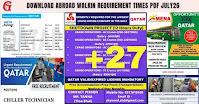 ABROAD WALKIN REQUIREMENT TIMES PDF JULY26