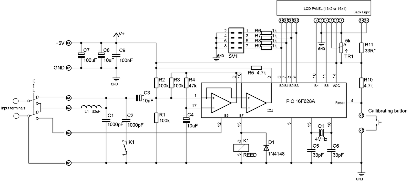 inductance meter schematic linear inductance meter circuit schematic circuitdiagram measuringandtestcircuit linearinductancemeter [ 1600 x 714 Pixel ]