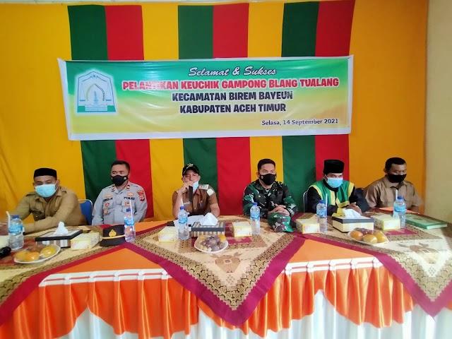 Camat Birem Bayeun Lantik Kechik, Hati-hati Dalam Pengolaan Dana Desa