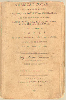 American Cookery 1st Edition 1796 - CookBook Cover