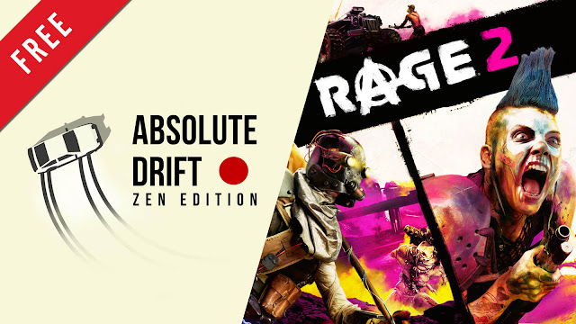 absolute drift rage 2 free pc game epic games store arcade racing open-world first-person shooter game funselektor labs avalanche studios id software bethesda softworks
