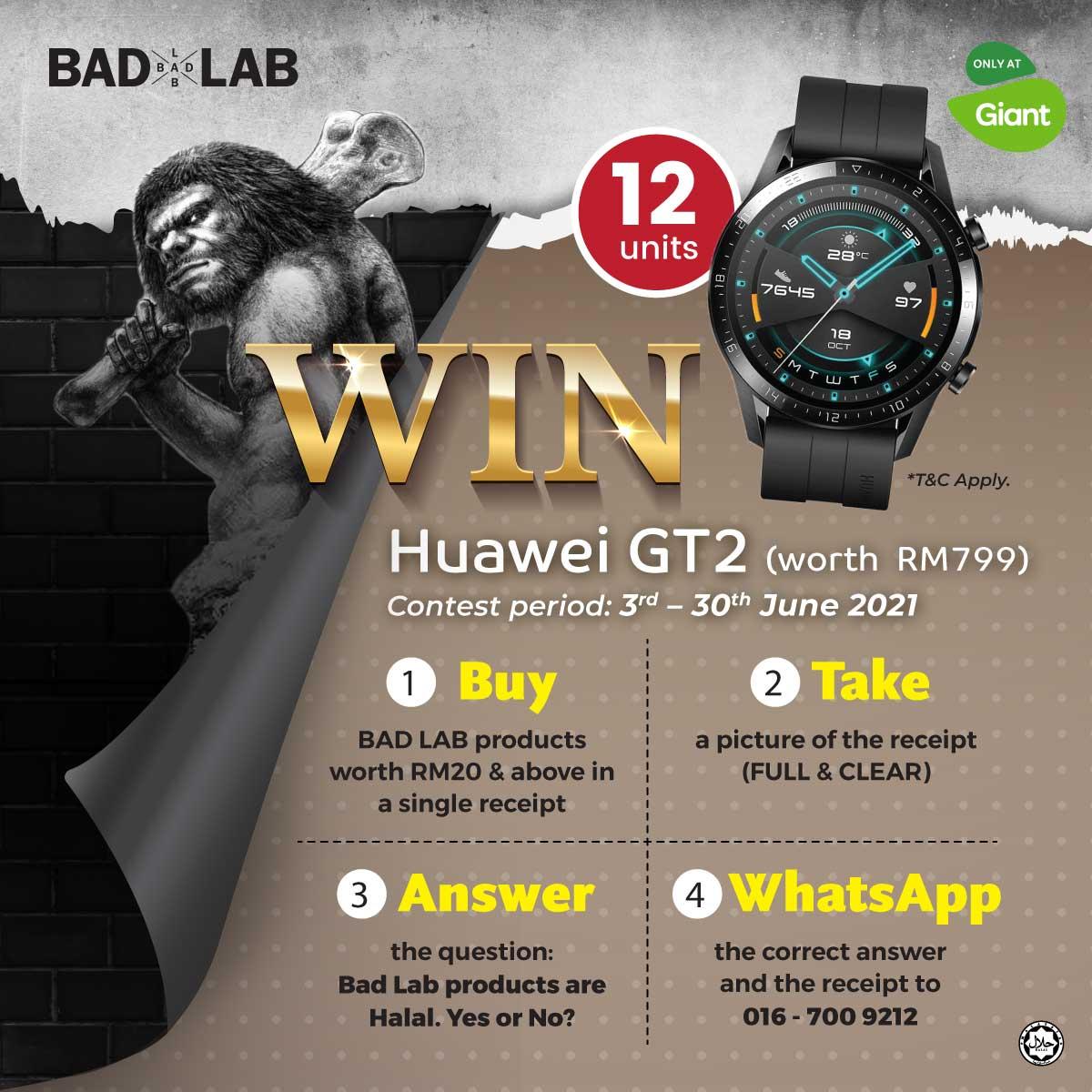 Bad Lab: Buy & Win Huawei GT2
