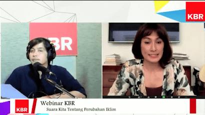 Webinar KBR bertema Suara Kita tentang Perubahan Iklim