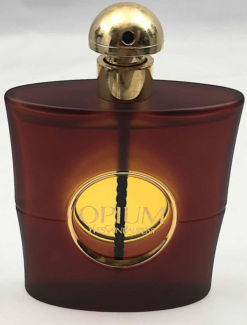 Opium perfume 1967, color bottle, Yves Saint Laurent