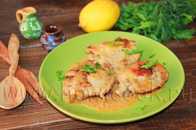 рецепт гедлибже курицы в сметане по-кабардински