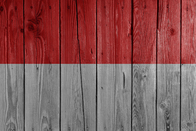 kayu cat merah putih