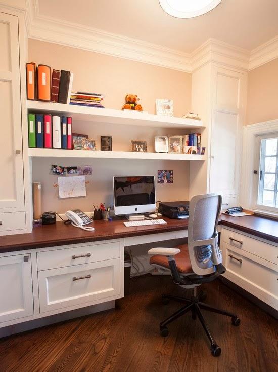Hogares frescos 40 ideas para dise ar tu oficina en casa for Oficina moderna en casa