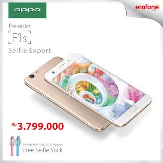 OPPO F1s Rp 3.799.000 Bonus Selfie Stick (Tongsis)