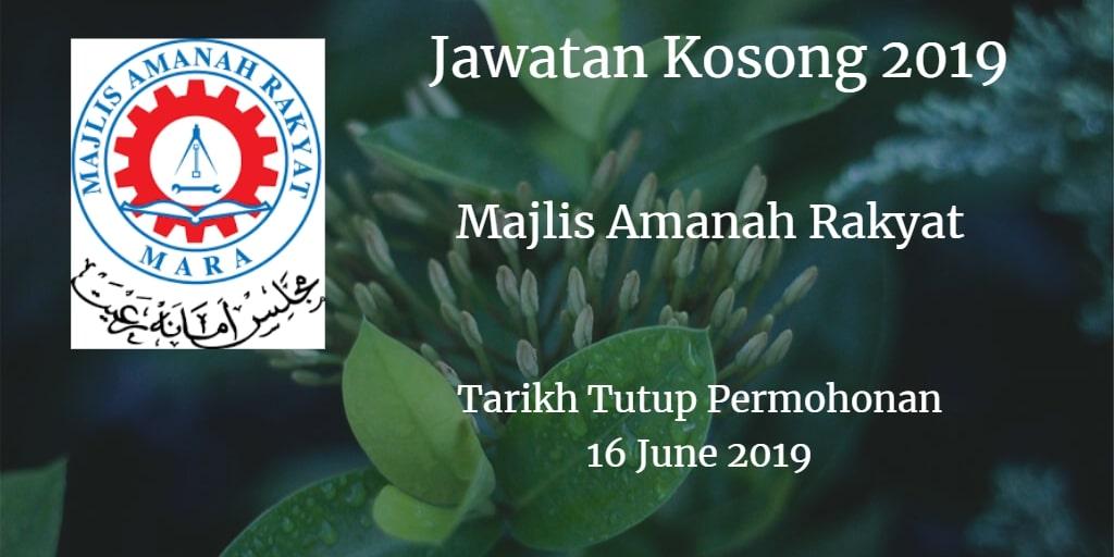 Jawatan Kosong MARA 16 June 2019
