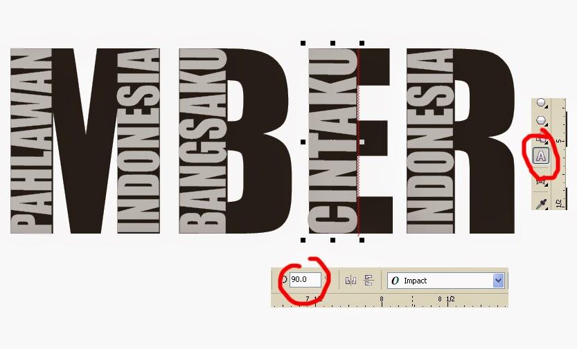 membuat tipografi corel draw
