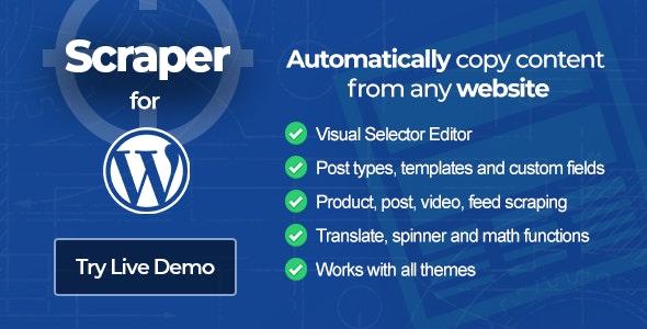 Scraper WordPress là một plugin miễn phí có thể tự động sao chép nội dung