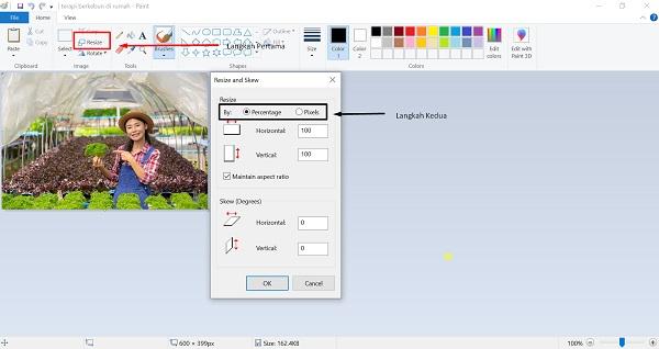 Merubah Ukuran Foto dengan Paint
