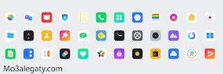 ايقونات واجهه Realme UI