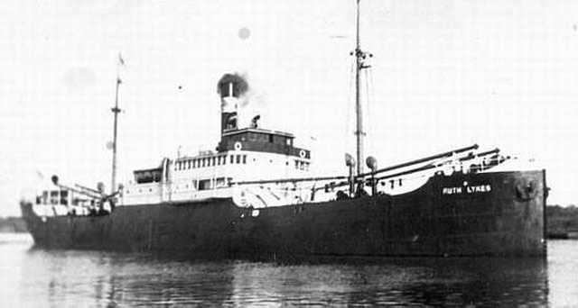 Freighter Ruth Lykes, torpedoed on 16 May 1942 worldwartwo.filminspector.com