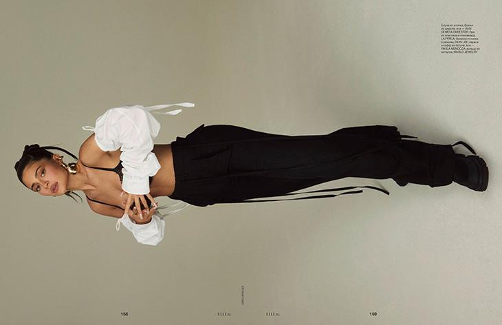 Wearing Ann Demeulemeester – Photo ©Greg Swales for Elle Russia