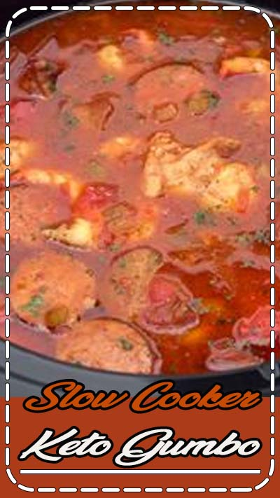 Slow Cooker Keto Gumbo is not only fast and easy to make, it's delicious! Simply throw all the ingredients - minus the shrimp - in a slow cooker, and in a few hours you have a filling meal!