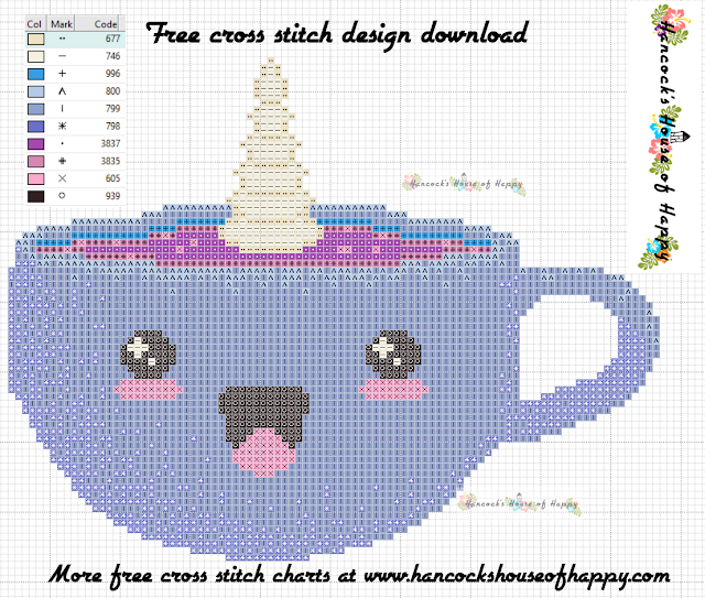 Coffee Week! Cappuccinocorn Free Cross Stitch Pattern to Download