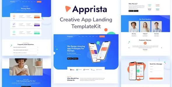 Best Creative App Landing Elementor Template Kit