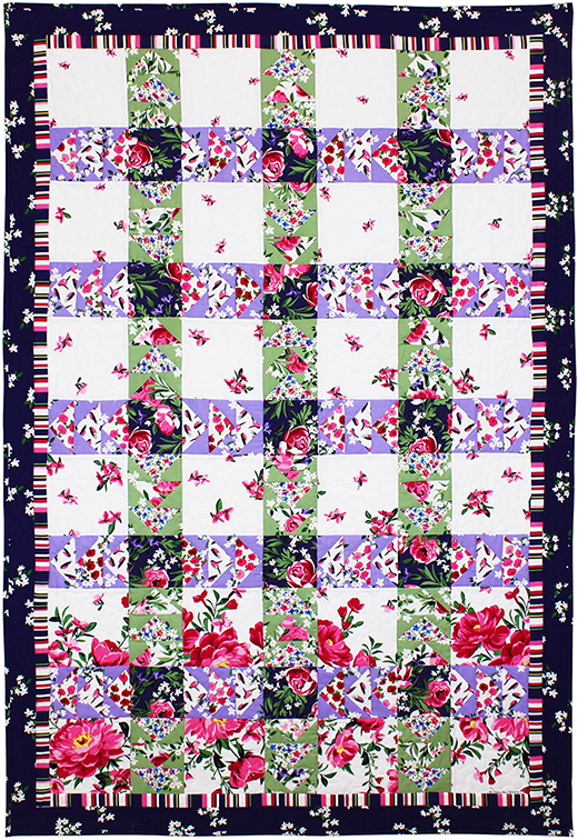 Bed of Roses Quilt designed by Marinda Stewart for Michael Miller Fabrics