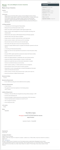 Meghna Group Job Circular2021