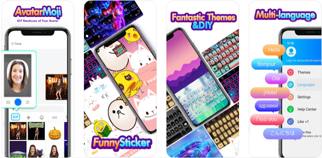 Touchpal Keyboard لوحة مفاتيح بألوان رائعة