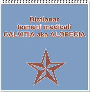 dictionari termeni medicali alopecia calvita tratament cauze