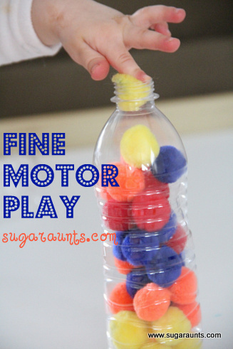 Fine Motor Play With Crafting Pom Poms The Ot Toolbox