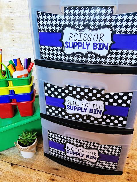 Classroom Supply Organization