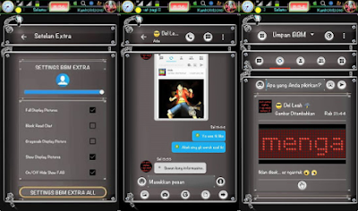 BBM Mod DarkWorm Style V3.1.0.13 Apk