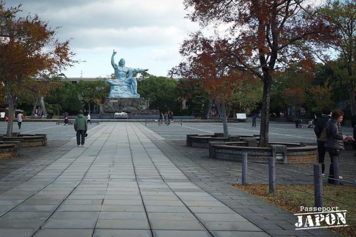 Esplanade et statue de la Paix, parc de la Paix, Nagasaki