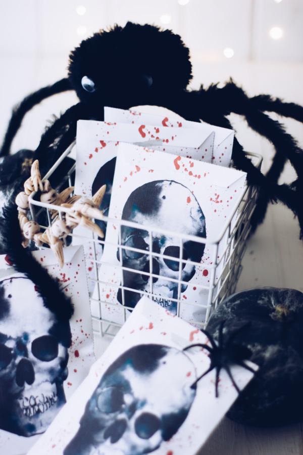 Vorlage für DIY Halloween-Beutel, gratis als Download! titatoni.de
