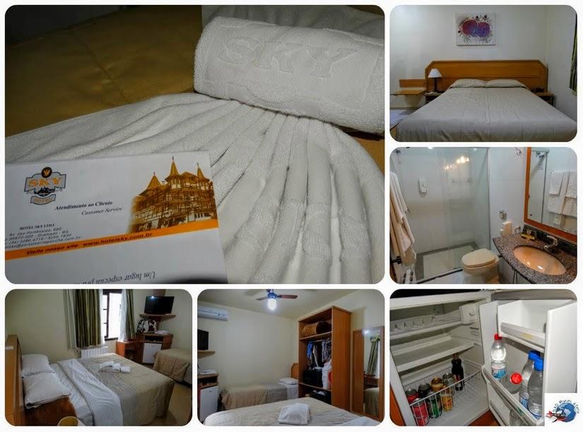Acomodações do hotel Sky - Onde ficar em Gramado (RS)