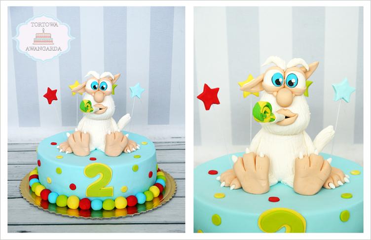 artystyczny kolorowy tort urodzinowy Booba Warszawa Tortowa Awangarda