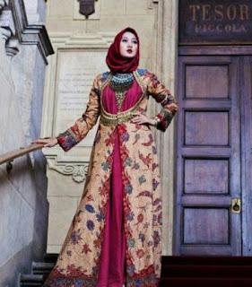 Model Baju Batik Hijab Modern Terbaru