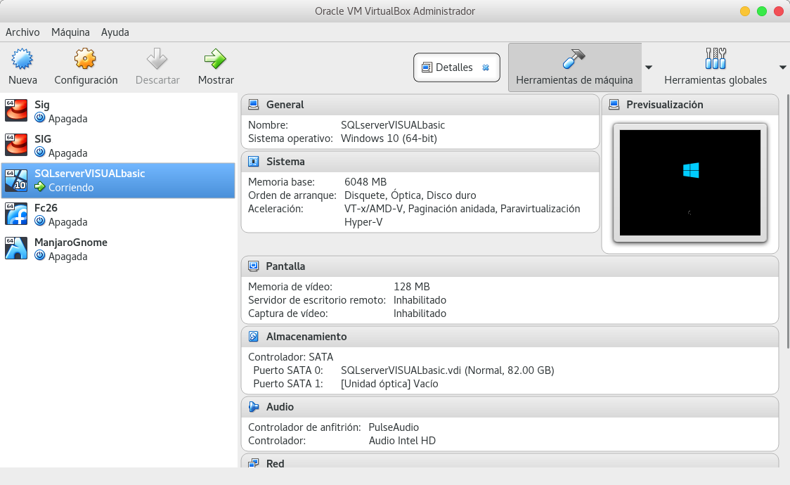 Instalar VirtualBox 5.2 en Fedora 26