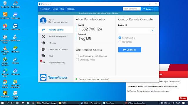Cara Menggunakan TeamViewer Di PC (Personal Computer) Atau Laptop