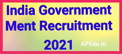 India Government Ment Recruitment 2021