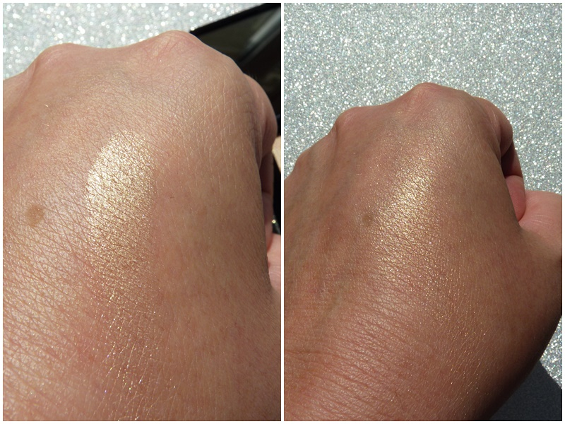 swatches złoty cień do powiek golden eyeshadow