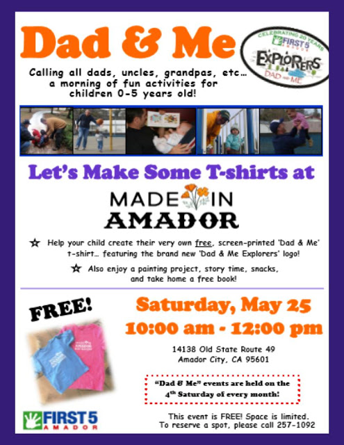 Dad & Me: Let's Make Some T-shirts at Made In Amador - Sat May 25