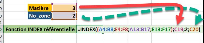 Fonction INDEX dynamique