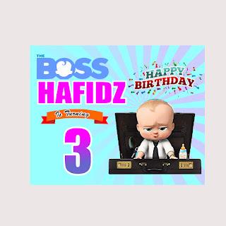 Contoh Banner Ultah Tema Boss Baby