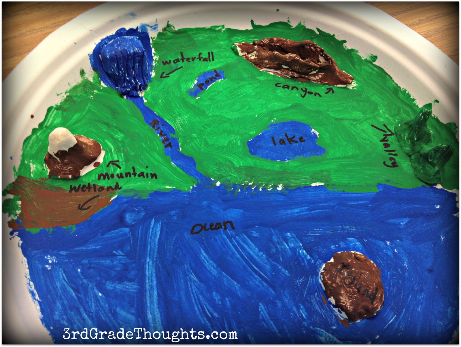 Making Landforms \u0026 Using the 7 Habits   3rd Grade Thoughts [ 1204 x 1600 Pixel ]