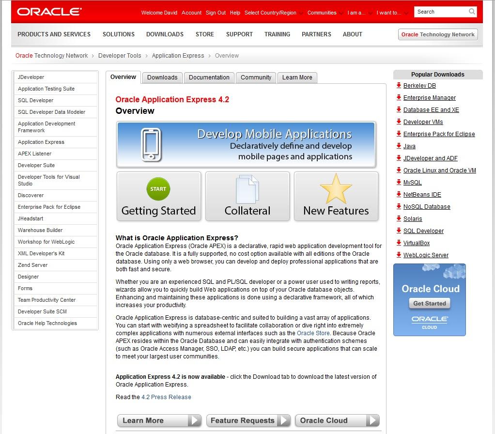 David Peake on Oracle APEX